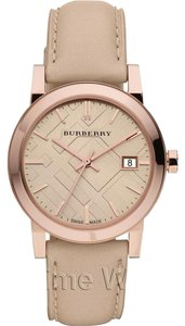 Burberry Burberry Tan Beige Rose Gold Women's Bu9109 Leather Strap Watch