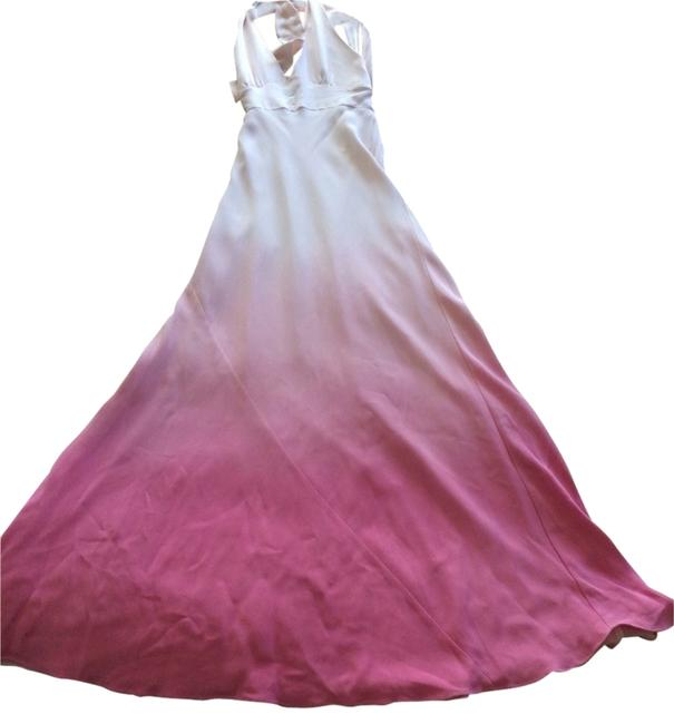 Item - Pale Pink with Ombr Effect Long Cocktail Dress Size 4 (S)
