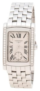 Longines White Stainless Steel and Diamonds Dolcevita L5.502.0.71.6 Women's Wr