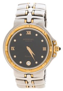 Raymond Weil Black Gold Plated Stainless Steel Parsifal 9190 Women Wat