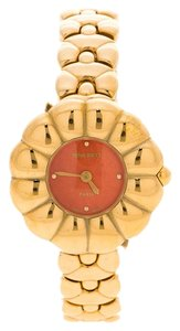Nina Ricci Red Gold Tone SM 983 Women's Wristwatch 25 MM