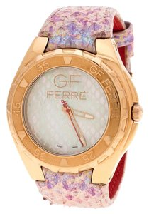 Gianfranco Ferre Mother of Pearl Gold-Plated Stainless Steel 9062J Wom
