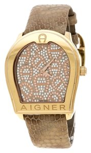 Etienne Aigner Silver Gold Plated Stainless Steel verona A48000 Women's Wristwatch