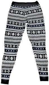 Love by Design Holiday Snowflake Knit BLUE Leggings