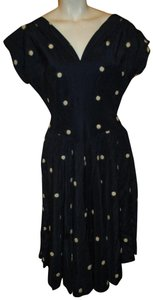 R&K Originals Vintage Polka Dot Taffeta Dress