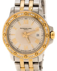 Raymond Weil Silver White Two Tone Gold Plated Stainless Steel Tango 5399