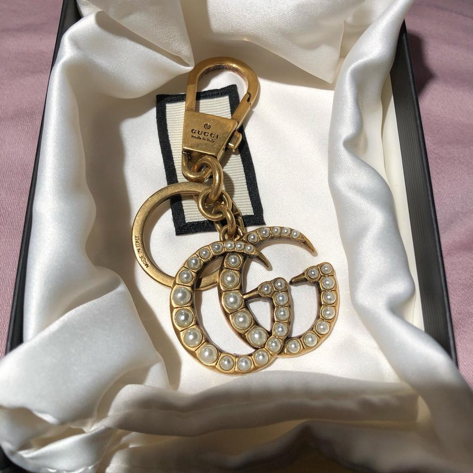 3e1076d5c91aa Gucci Double G with pearls key ring Image 3. 1234