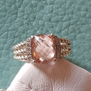 David Yurman David Yurman Wheaton Petite Morganite Diamond Ring