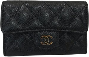 Chanel leather classic flap card holder