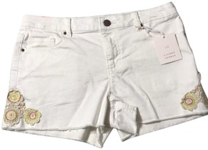 LC Lauren Conrad Cut Off Shorts White