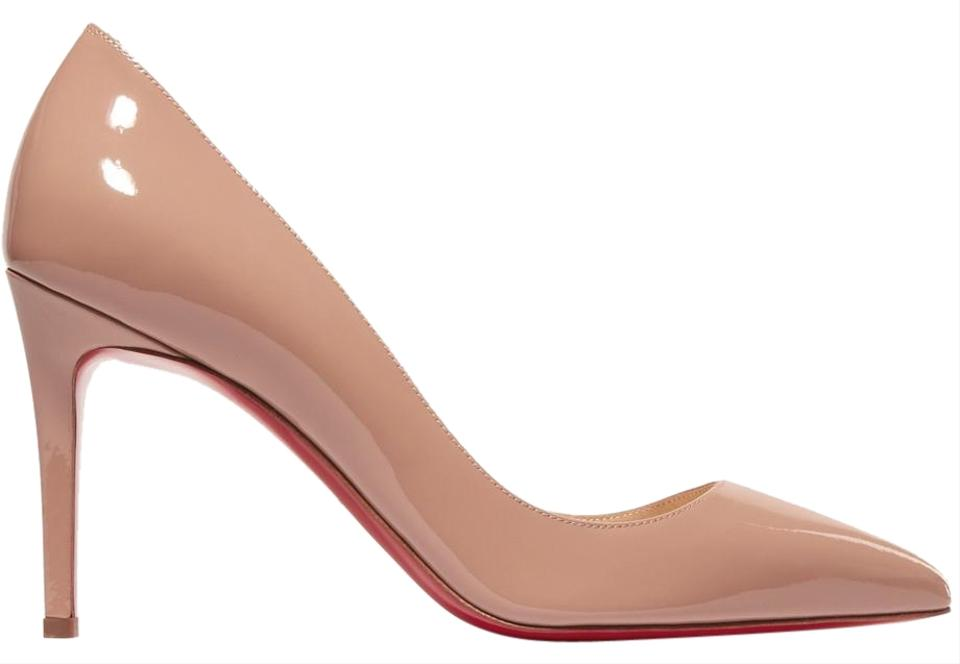2575a0023b23 Christian Louboutin Nude Patent - Pigalle Leather 85mm Pumps Size EU ...