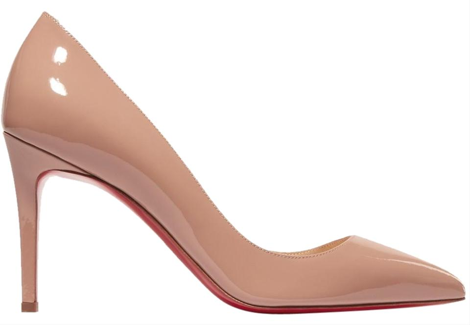 7f500173ff6 Christian Louboutin Nude Patent - Pigalle Leather 85mm Pumps Size EU ...