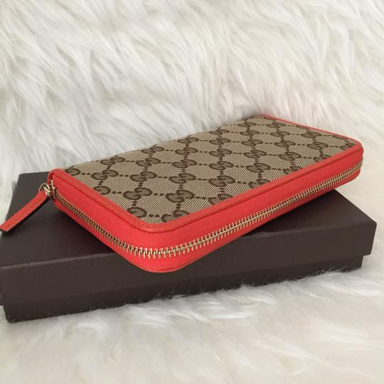 Gucci canvas leather wallet with zip Image 1