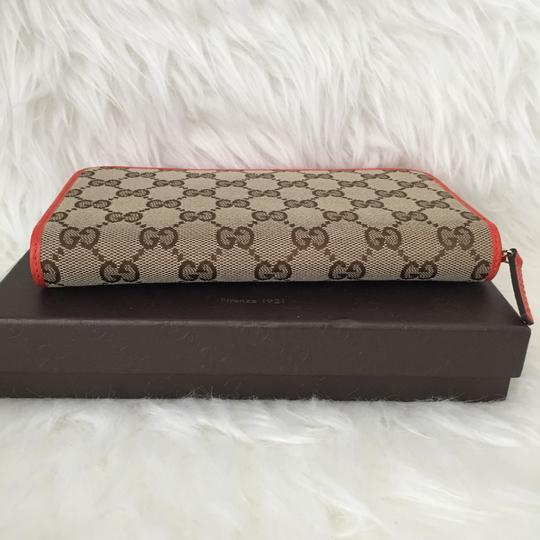 Gucci canvas leather wallet with zip Image 2