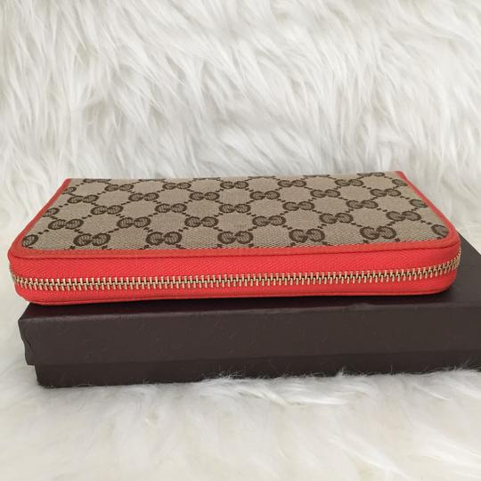 Gucci canvas leather wallet with zip Image 3