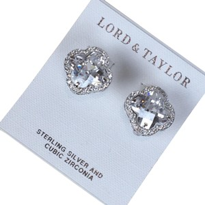 Lord & Taylor Lord & Taylor sterling and cubic zirconia earrings