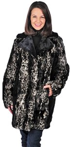 Adrienne Landau Leopard Car Length Fur Coat