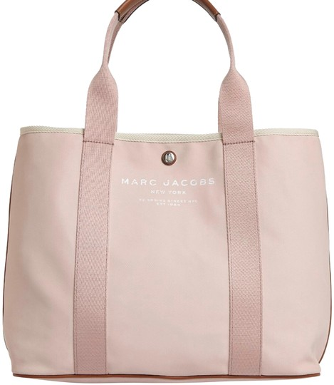 Preload https://img-static.tradesy.com/item/24424259/marc-jacobs-logo-cotton-pink-tote-0-1-540-540.jpg
