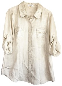Calvin Klein Button Down Shirt gold