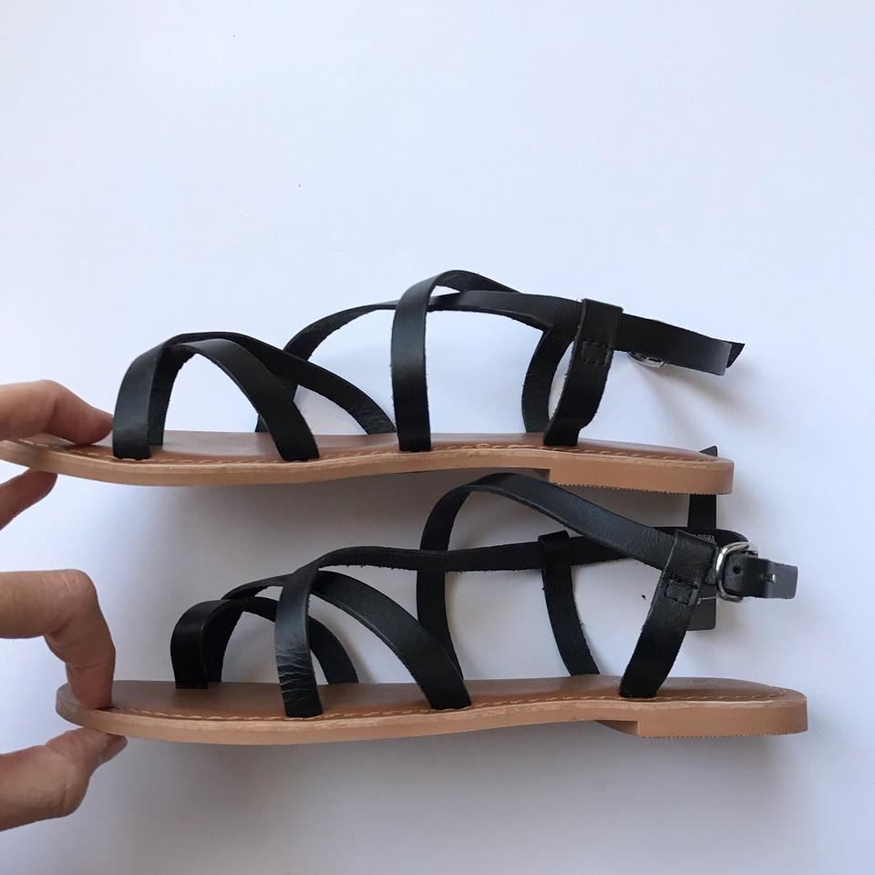 372b505fd726 Topshop Black Leather Hiccup Strappy Sandals Size EU 38 (Approx. US 8)  Regular (M