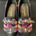 Chanel Purple/Black Mocassin Loafers Tweed Flats Size EU 36.5 (Approx. US 6.5) Regular (M, B) Chanel Purple/Black Mocassin Loafers Tweed Flats Size EU 36.5 (Approx. US 6.5) Regular (M, B) Image 7