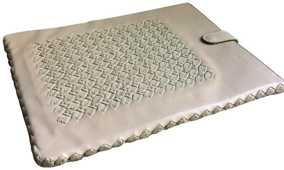 a3c8af395fbc Bottega Veneta Beige with Green Trim Napa Leather Ipad Protector (Case)  Lira To Us Tech Accessory