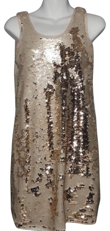 78c18a92f6 Zara Gold Evening Collection Cocktail Dress. Size  8 (M) Length  Short ...