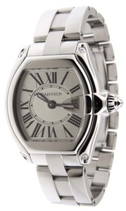 Cartier Mint Ladies Cartier Roadster 2675 Stainless Steel 30x36mm Date Watch
