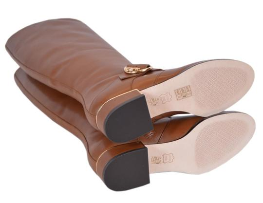 Tory Burch Riding Leather Knee High Festival Brown Boots Image 3