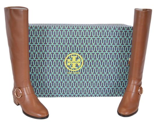 Tory Burch Riding Leather Knee High Festival Brown Boots Image 4