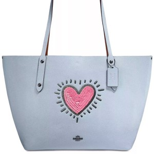 Coach Tote in Ice Blue