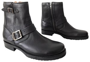 "Frye Veronica 6"" Shortie Winter Leather Black Boots"