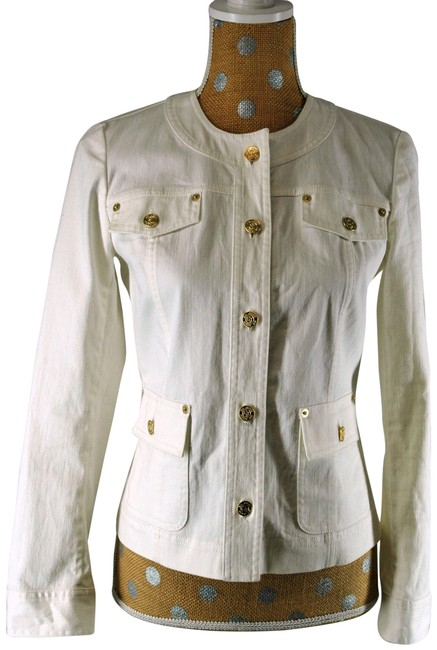 Item - Off White W Jeans W/ Gold Buttons Jacket Size 2 (XS)