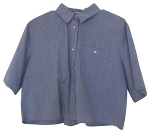 Alexander Wang Button Down Shirt blue