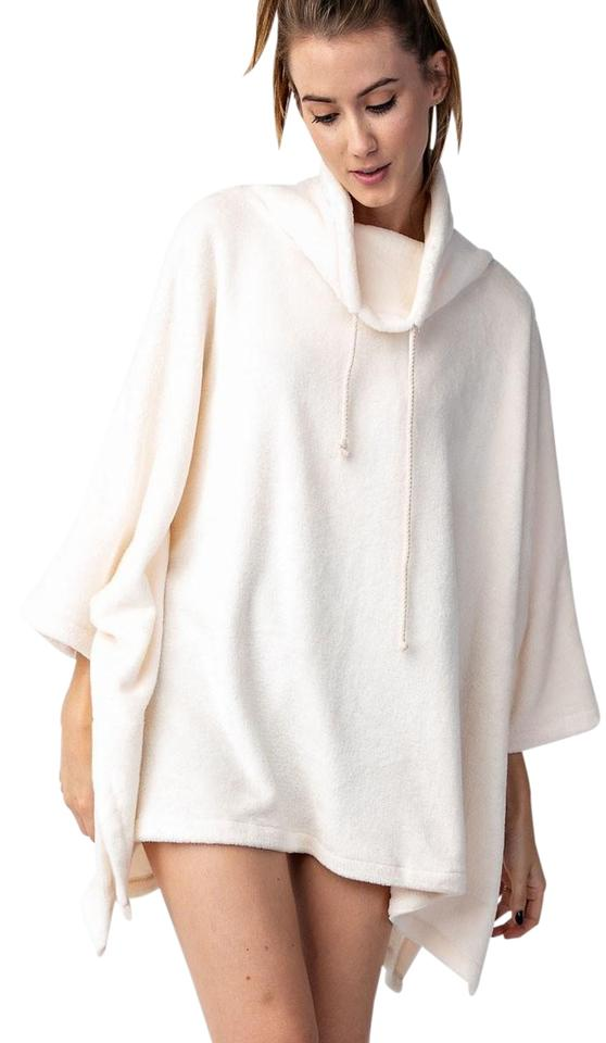 Easel Uber Soft Fleece Poncho Ivory Sweater - Tradesy 9875d4df5