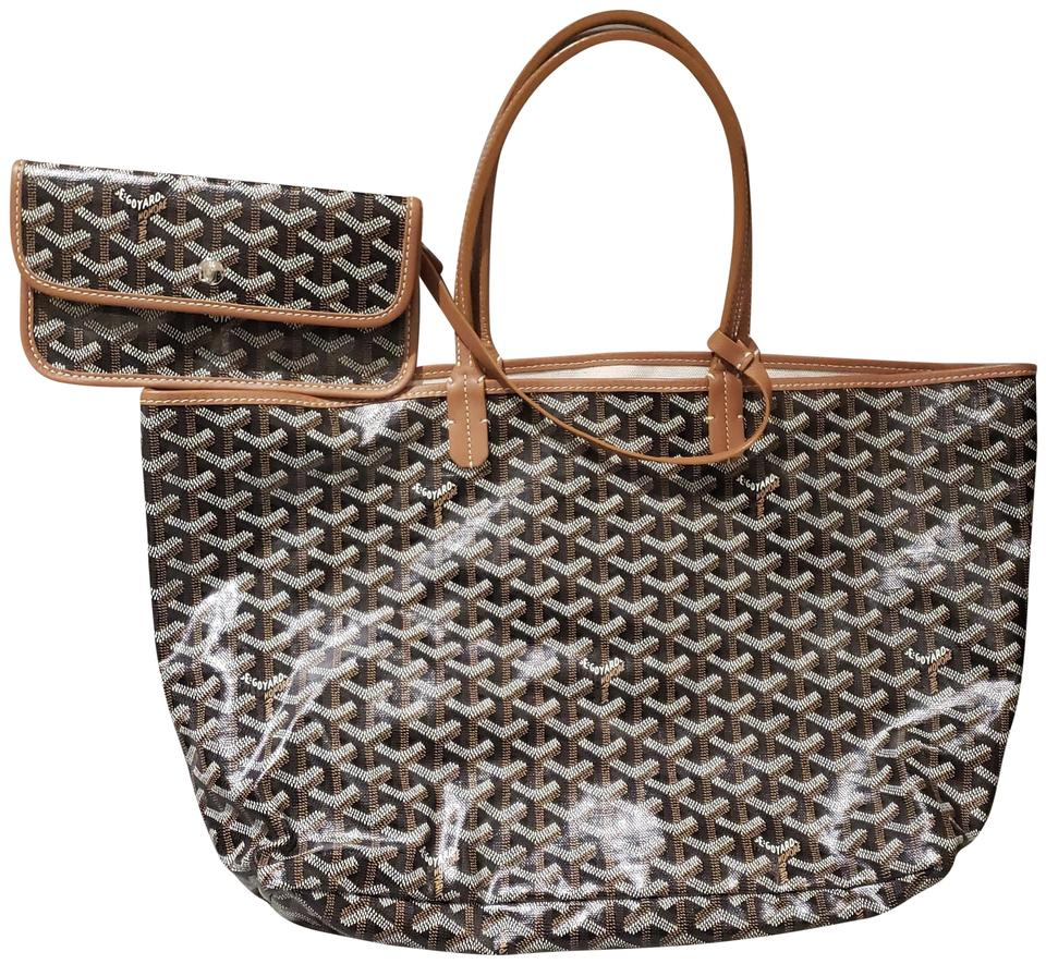 c18943c34a8 Goyard Saint Louis Pm Canvas Black Brown Special Resin Coated Linen and Are  Lined with A Cotton Linen Fabric Tote