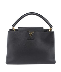 Louis Vuitton Leather France Adult Satchel in Black