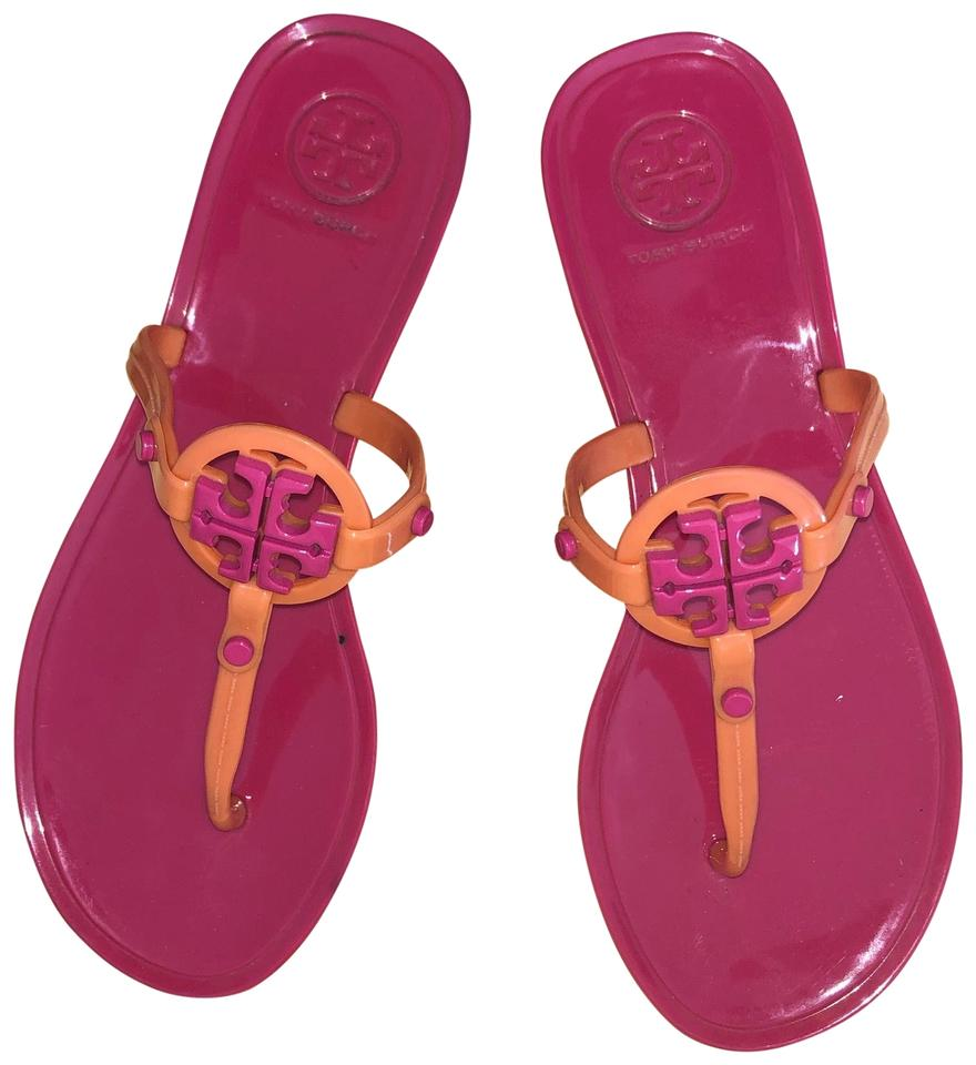 6b6f9f84256f Tory Burch Pink Mini Miller Jelly Sandals Size US 5 Regular (M