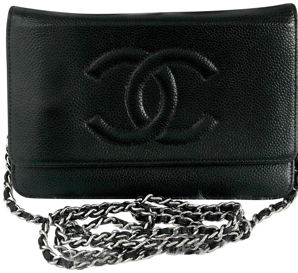f6c08bb17c0c Chanel Wallet on Chain Caviar Silver Hardware Woc Black Leather ...