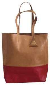 Sorial Tote in Camel/Cherry