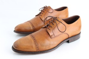 Hugo Boss Brown Leather Derby Shoes