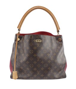 Louis Vuitton Coated Canvas Pre-owned None Gold-tone Hobo Bag