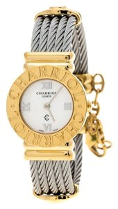 Charriol Grey Gold-Plated Stainless Steel St Tropez Women's Wristwatch 24 mm