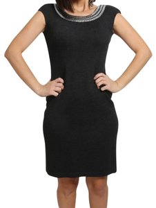 St. John short dress Gray Sheath on Tradesy