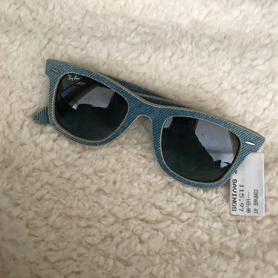 09ebabf7b03 ... netherlands ray ban ray ban wayfarer light blue denim sunglasses 6f0ac  b2324