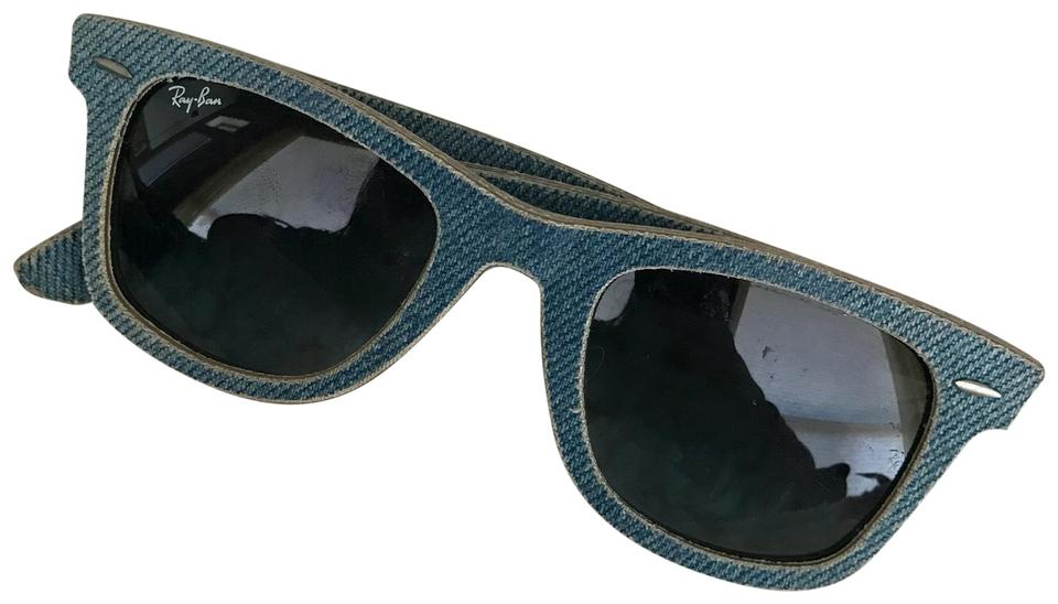 4204f3a3061 Ray-Ban Ray-Ban Wayfarer Light-Blue Denim Sunglasses Image 0 ...