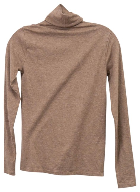 Item - Light Brown Neutral Turtle Neck Tee Shirt Size 4 (S)