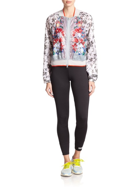 Item - Multi Color Floral-print Shell Bomber Activewear Outerwear Size 8 (M)