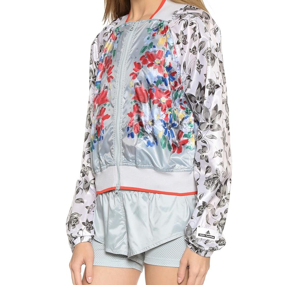 b30445abf5d adidas By Stella McCartney Multi Color Floral-print Shell Bomber Activewear  Outerwear Size 8 (M) - Tradesy