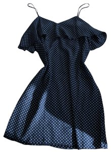 ATM short dress navy with white dots on Tradesy